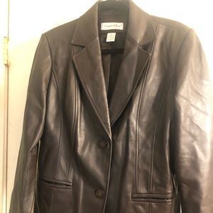Preston & York Brown Leather woman's Jacket